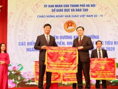 Bí thư Thành ủy Hà Nội Vương Đình Huệ dự lễ tuyên dương các nhà giáo có thành tích xuất sắc năm học 2019 - 2020