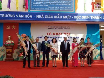 Hôi Thi Giáo Viên Dạy Giỏi Quận Thanh Xuân Năm 2018-2019
